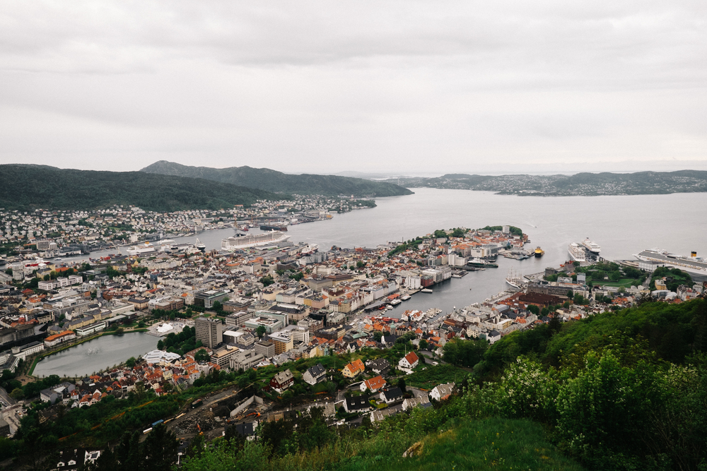 A bird's-eye view of Bergen.