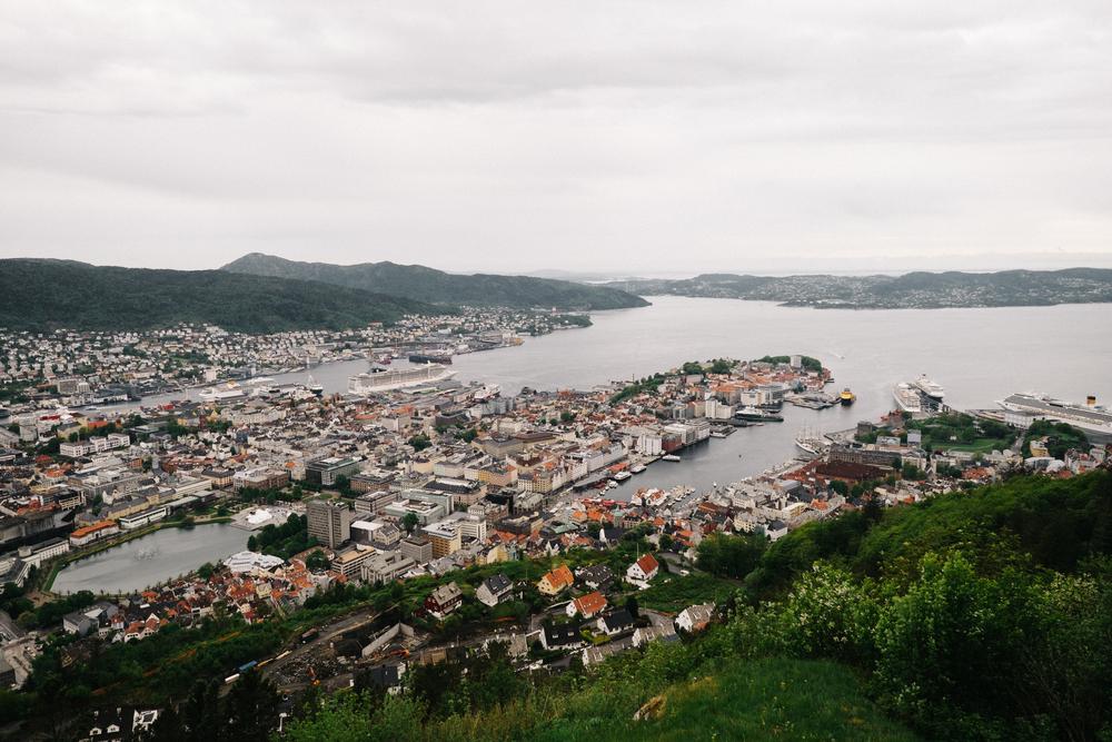 A bird's-eye view of Bergen.