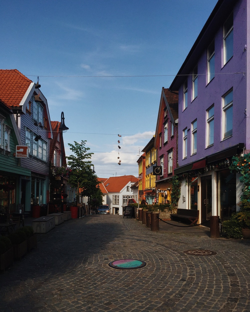 The street I stayed overnight in Stavanger. Pretty much the most colorful street in the town.