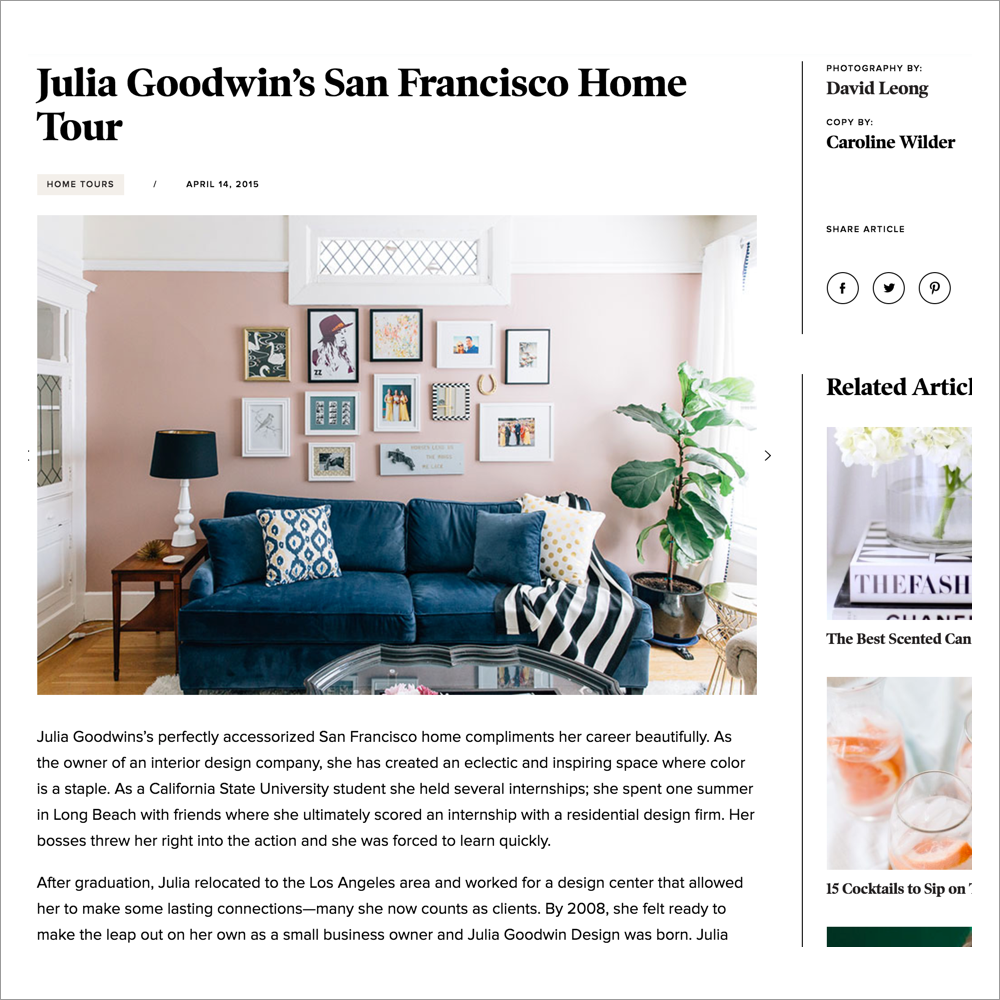 The Everygirl - Julia Goodwin's San Francisco Home Tour