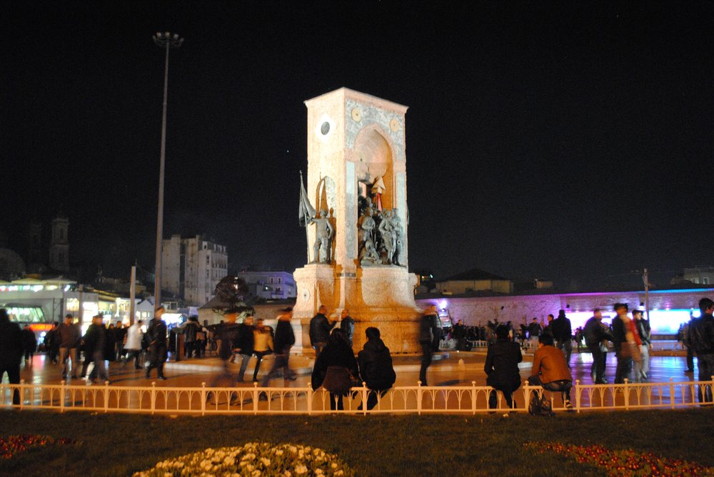 This image of Taksim Square was taken from the internet, because I didn't get a good photo of it.