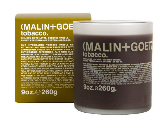Malin and Goetz Tabacco Candle