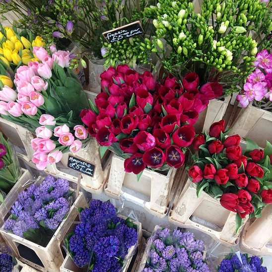 9. Let's not forget the 'flower photo':At the farmers market or the florist. Give your followers a visual vase.