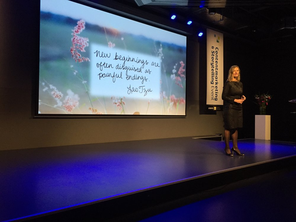 Genevieve Meerburg op het Content Marketing en Storytelling Event