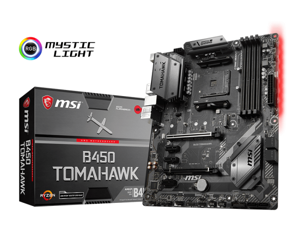 MSI B450 Tomahawk Motherboard // cr: MSI
