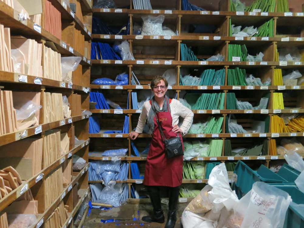 Just a very small portion of the Orsoni Color Library.Over 20,000 different colors!! An entire wall of flesh tones!