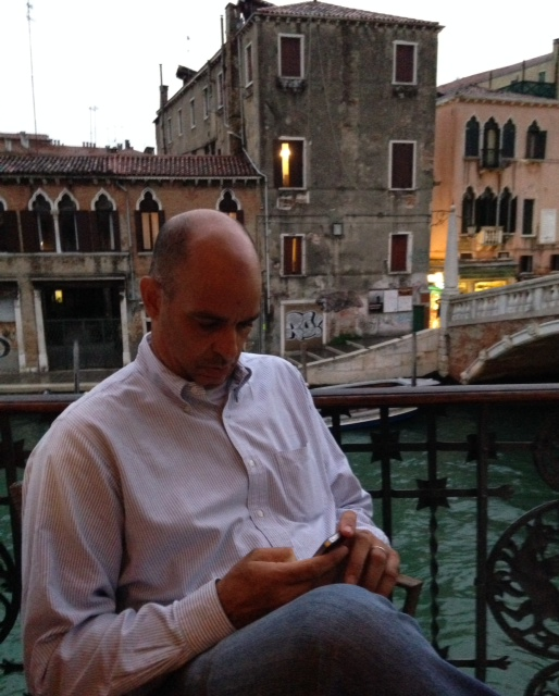 My Handsome, Strong Willed Warrior husband--Venice 2014
