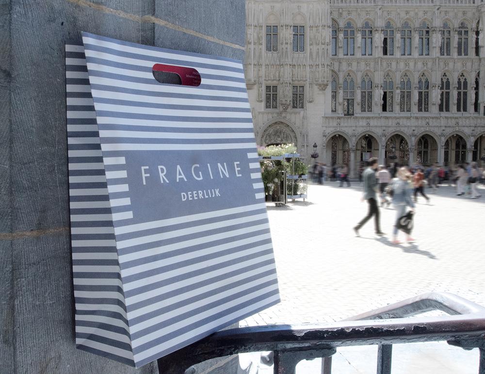 c-bags voor Fragine Deerlijk // multi cycli ecologische draagtas // kraft papier bedrukte draagtassen // scherpe prijs!