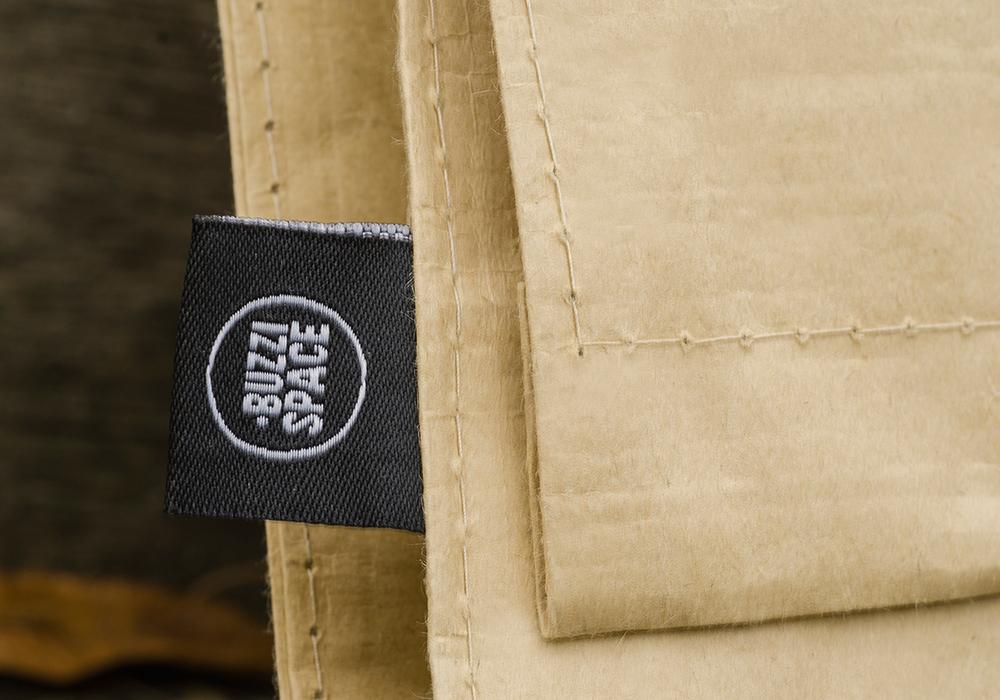 c-bags voor Buzzi Space // single cyclus ecologische draagtas //  PP woven bedrukte draagtassen - kraft laminatie
