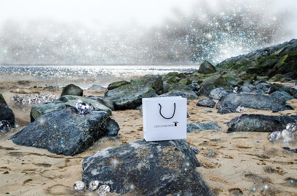 c-bags bedrukte draagtassen voor Gem Diamonds // multi cyclus ecologische draagtassen // art paper // betaalbare luxe draagtassen