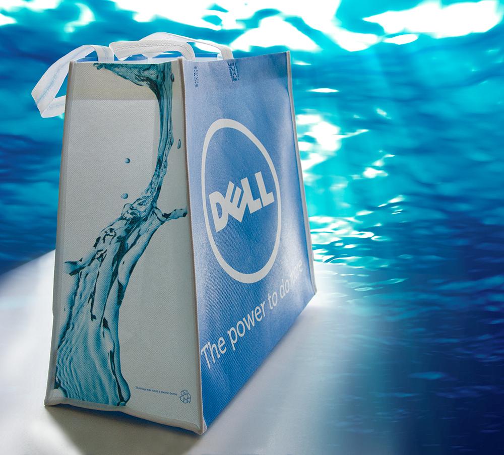 c-bags bedrukte draagtassen voor Dell // single cyclus ecologische draagtassen // PP non woven // betaalbare luxe draagtassen
