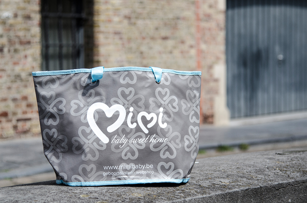 c-bags bedrukte draagtassen voor Mimi Baby // single cyclus ecologische draagtassen // PP non woven // betaalbare luxe draagtassen