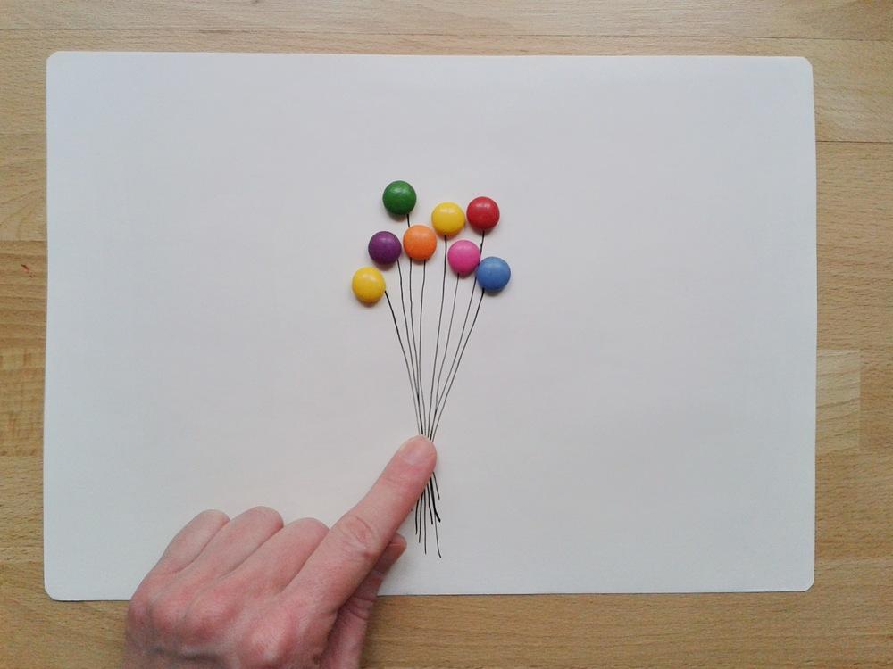 balónky z Lentilek. jako bych byla zase zpátky v dětství. anebo vážně jsem?