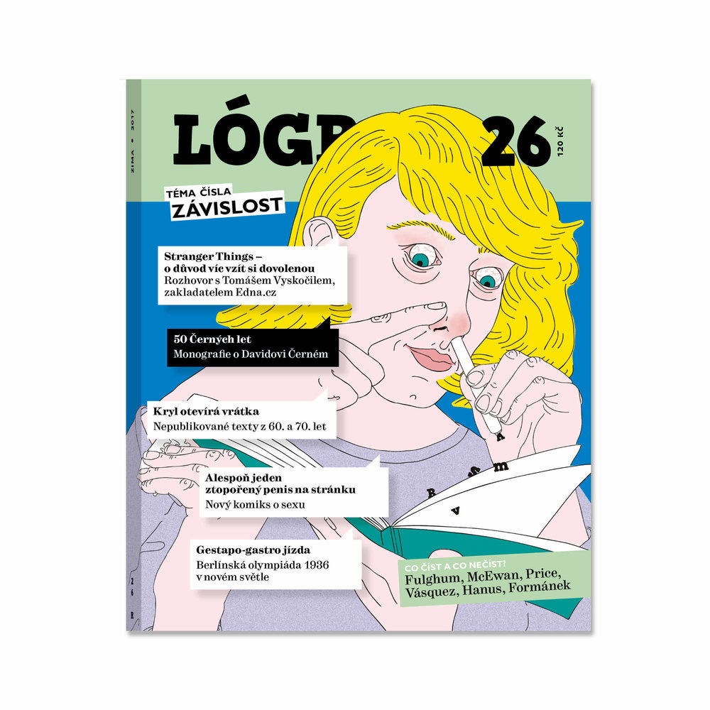 Magazine cover and text illustrations
