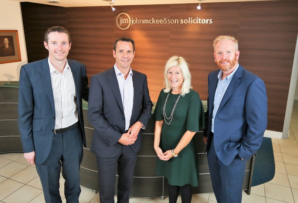 Members of the John McKee Solicitors energy team Philip McBride, Chris Ross, Andrea McCann and Alan Bissett.