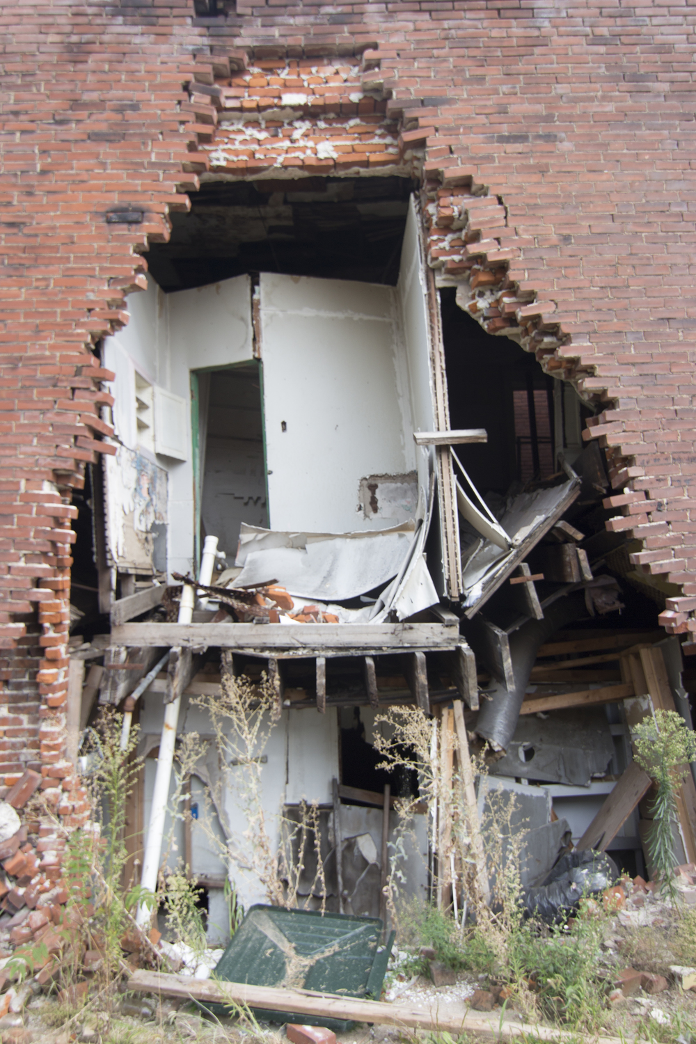 figure 5: Abandoned building falling apart due to brick theft and arson in St. Louis. Photo Credit: Jeff Knapke