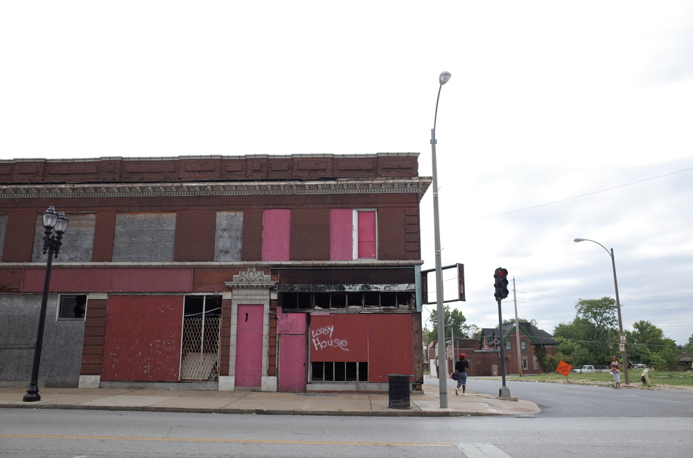 figure 6: Abandoned storefronts typical to Martin Luther King Dr. in St. Louis. Photo Credit: Elena Chang