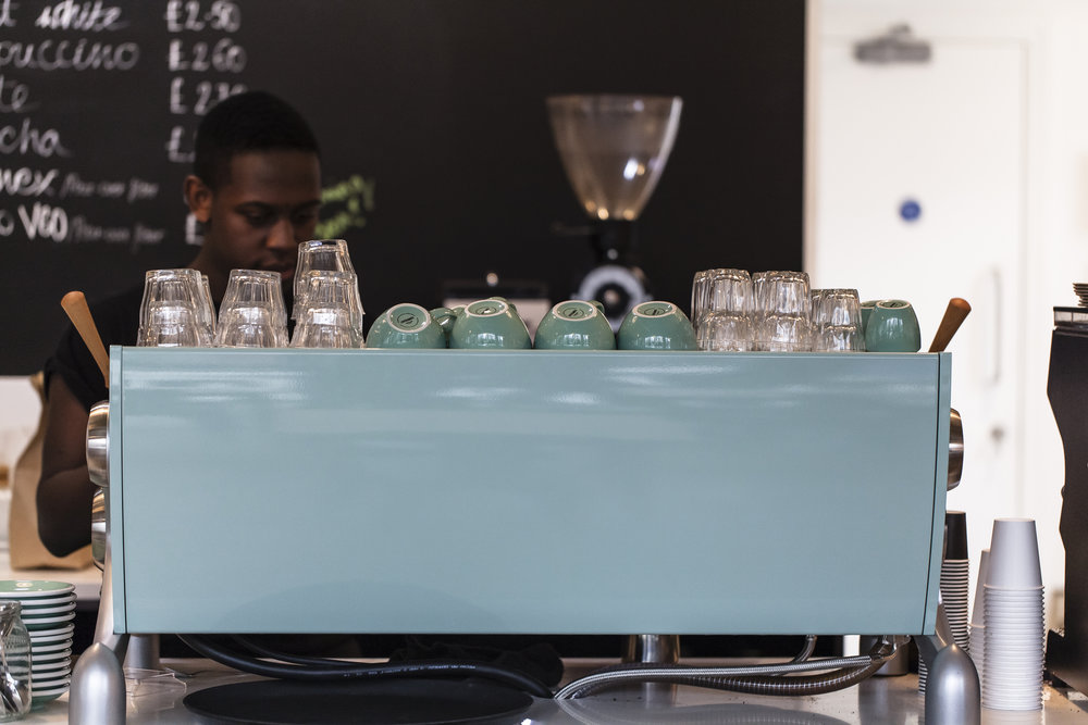 slayer espresso - We adore this state-of-the-art custom built 'Cambridge Blue' espresso machine straight from Seattle - and with a little love from our baristas, it makes the *tastiest* espresso!