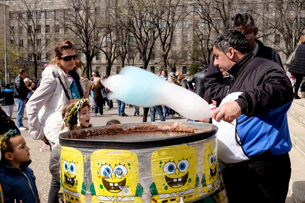 Fairy floss during Easter outside St Mark's Church