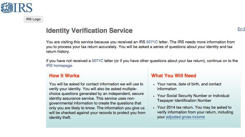 recipients of irs identity verification letters letter 5071c given information on steps to take current federal tax developments