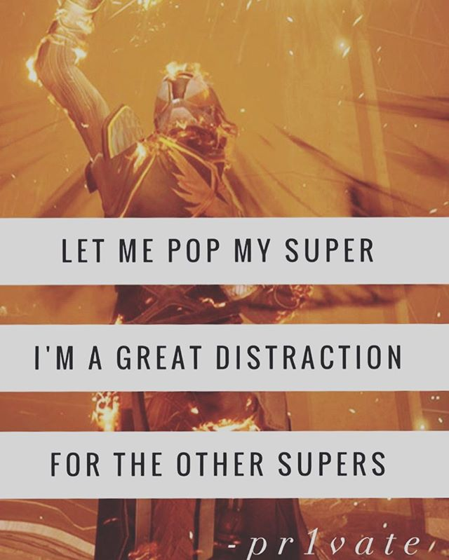 Sometimes you just have to make a little bit of fun of yourself! -Solar • • • #Dawnblade #Destiny2