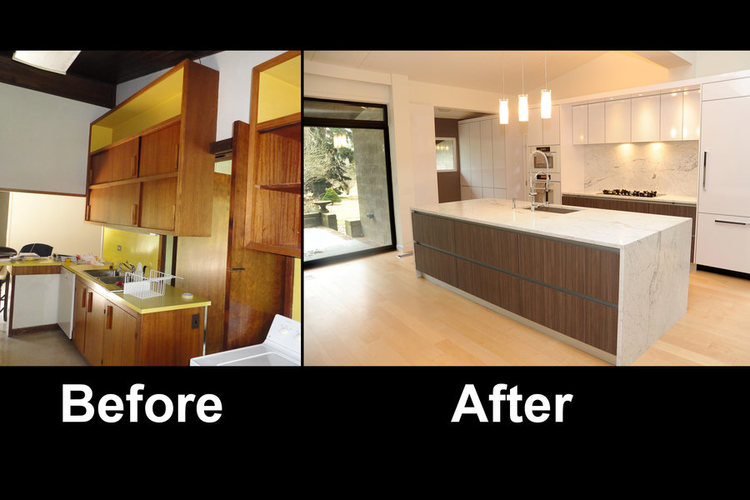 Before And After Kitchen Remodel Interior kitchen remodel – custom cabinetry – princeton nj – a&e