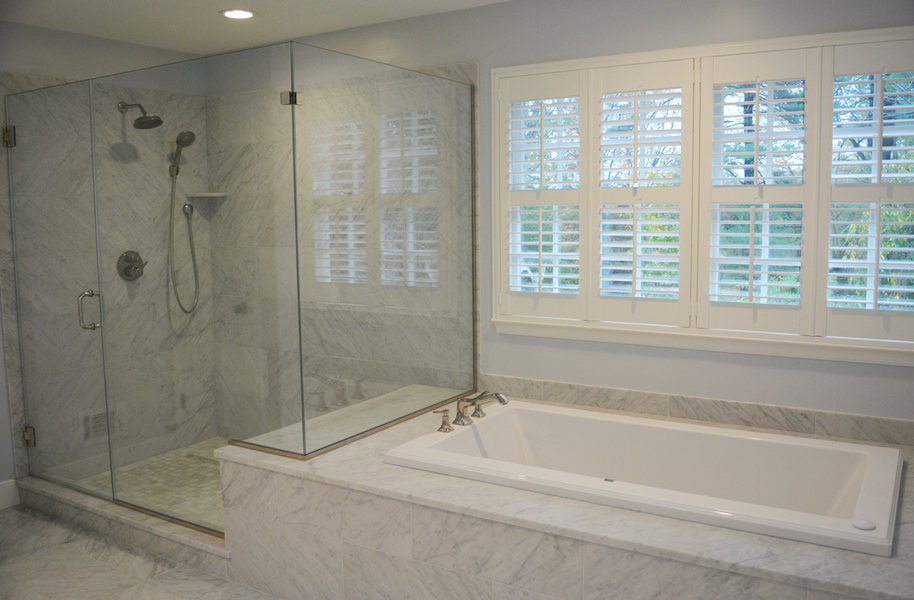Pennington NJ Bathroom Renovation Carrara Marble