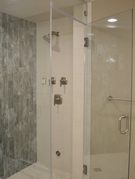 Princeotn Bathroom Gray Tile Granite White Vanity optimized.jpg