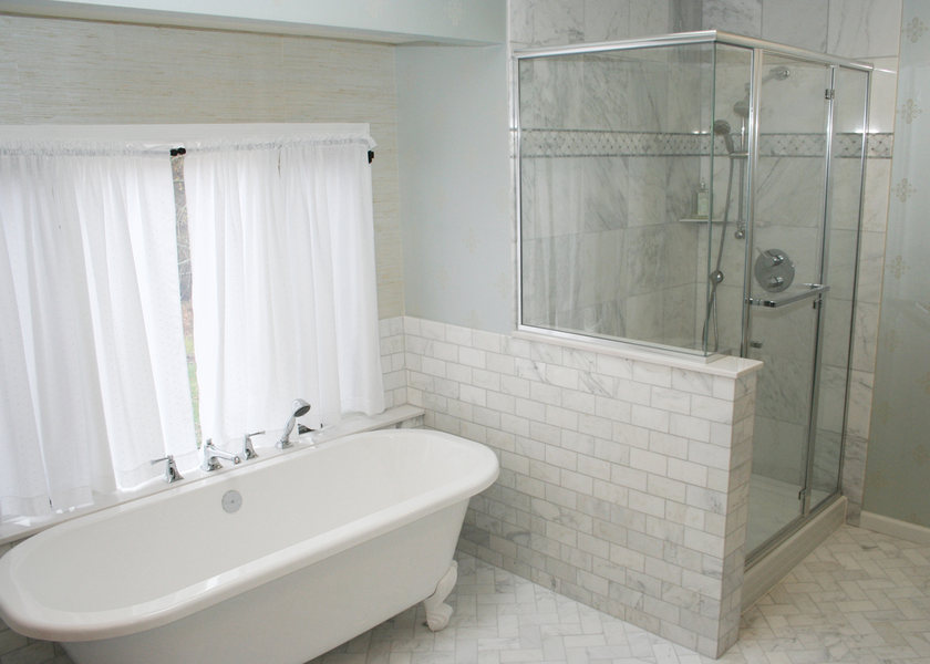 Luxury master bath suite traditional bathroom - A Amp E Bathroom Remodel Shower Installation Princeton
