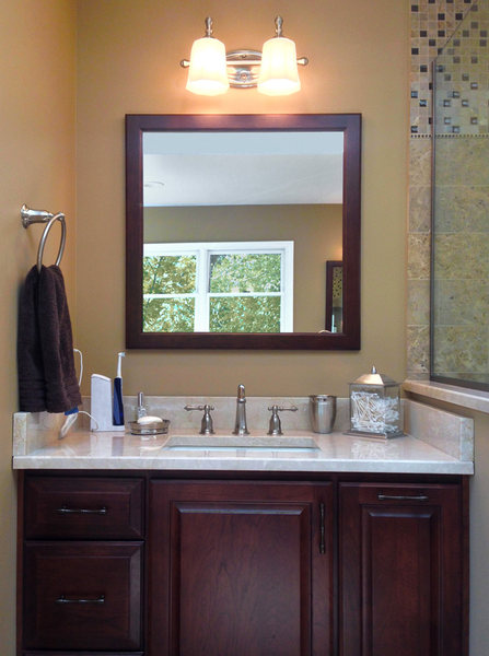 Bathroom Renovation A&E Construction Wood Vanity Marble Floors optimized.jpg