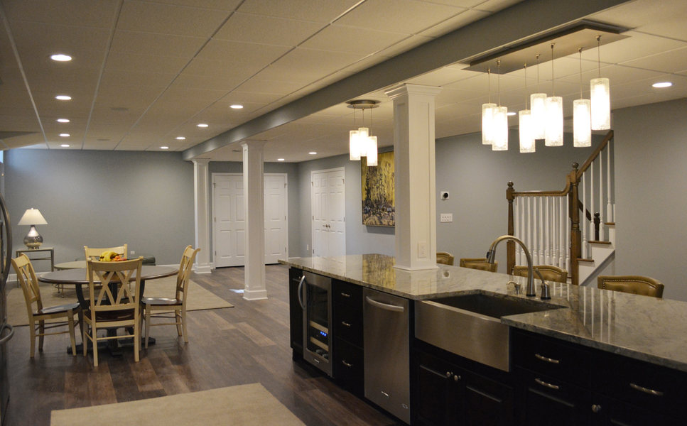 Marvelous Basement Kitchen Living Room Renovation Princeton NJ Optimized