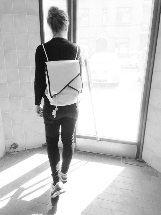 Geometrierucksack mit Notebookfach Tutorial plus Schnittmuster ...