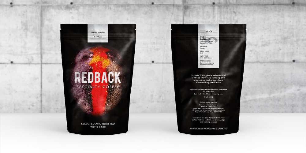 Packaging design / Coffee bag w/ label (single origin selection)
