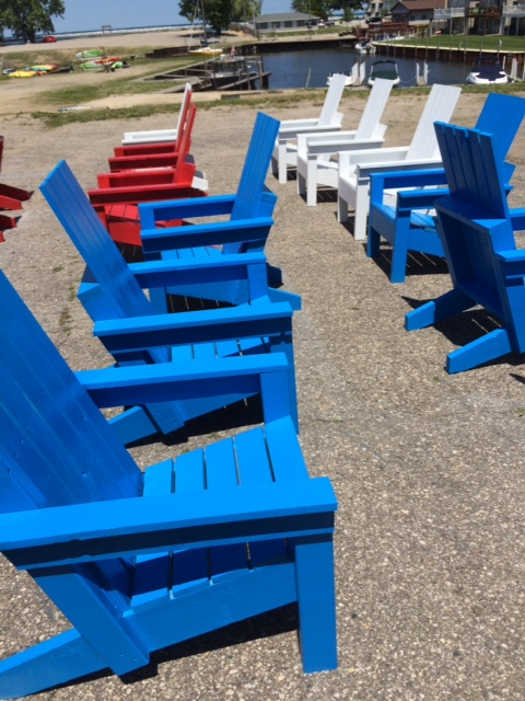 Adirondack chairs in the park - Port Austin, MI