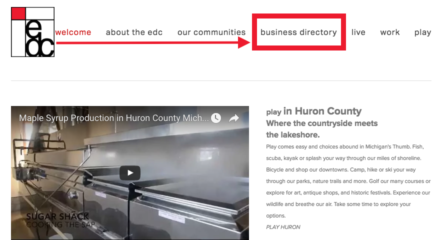 Huron County EDC - WORK Blog - Business Directory