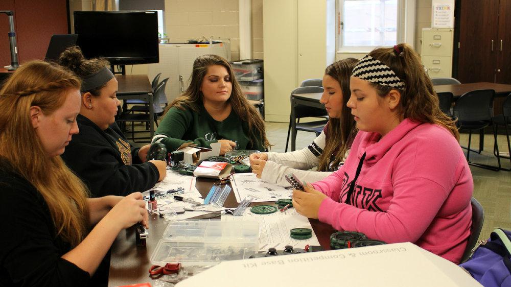 Girls VEX Robotics at Laker High School