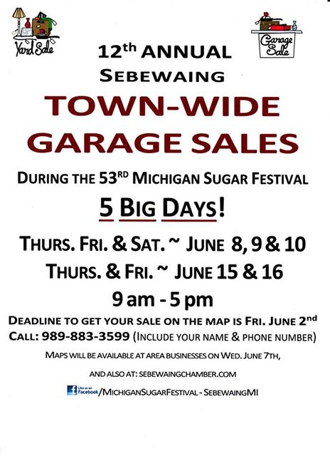 Michigan Sugar Festival Sales 2017