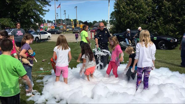 Kid's activity during Elkton Autumn Fest