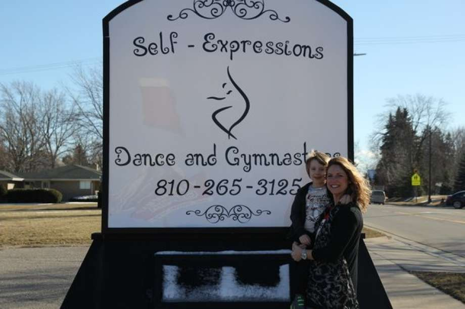 Self Expressions Dance Studio - New Sign and Owner, Kim Rathje.jpg