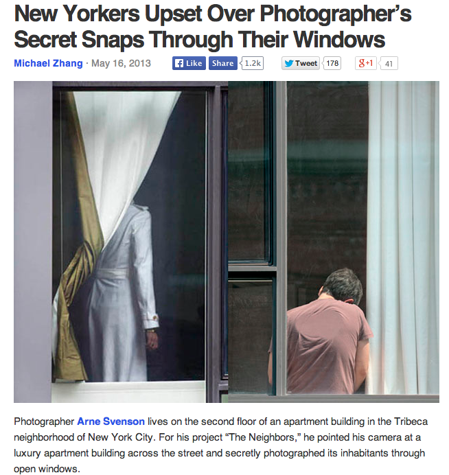 PetaPixel reports on Arne Svenson's photography project.