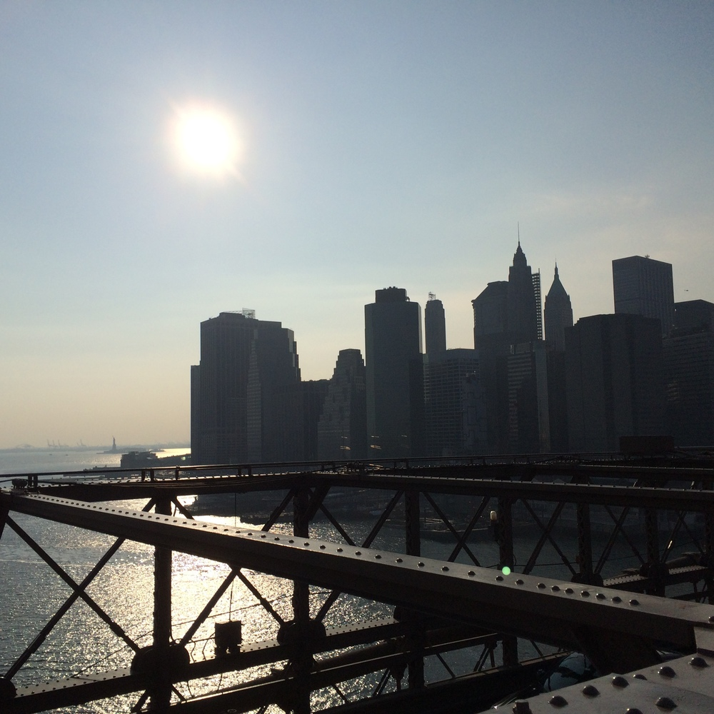 Here is an image of the NYC skyline taken from the Brooklyn Bridge. This came straight out of my iPhone 5S,