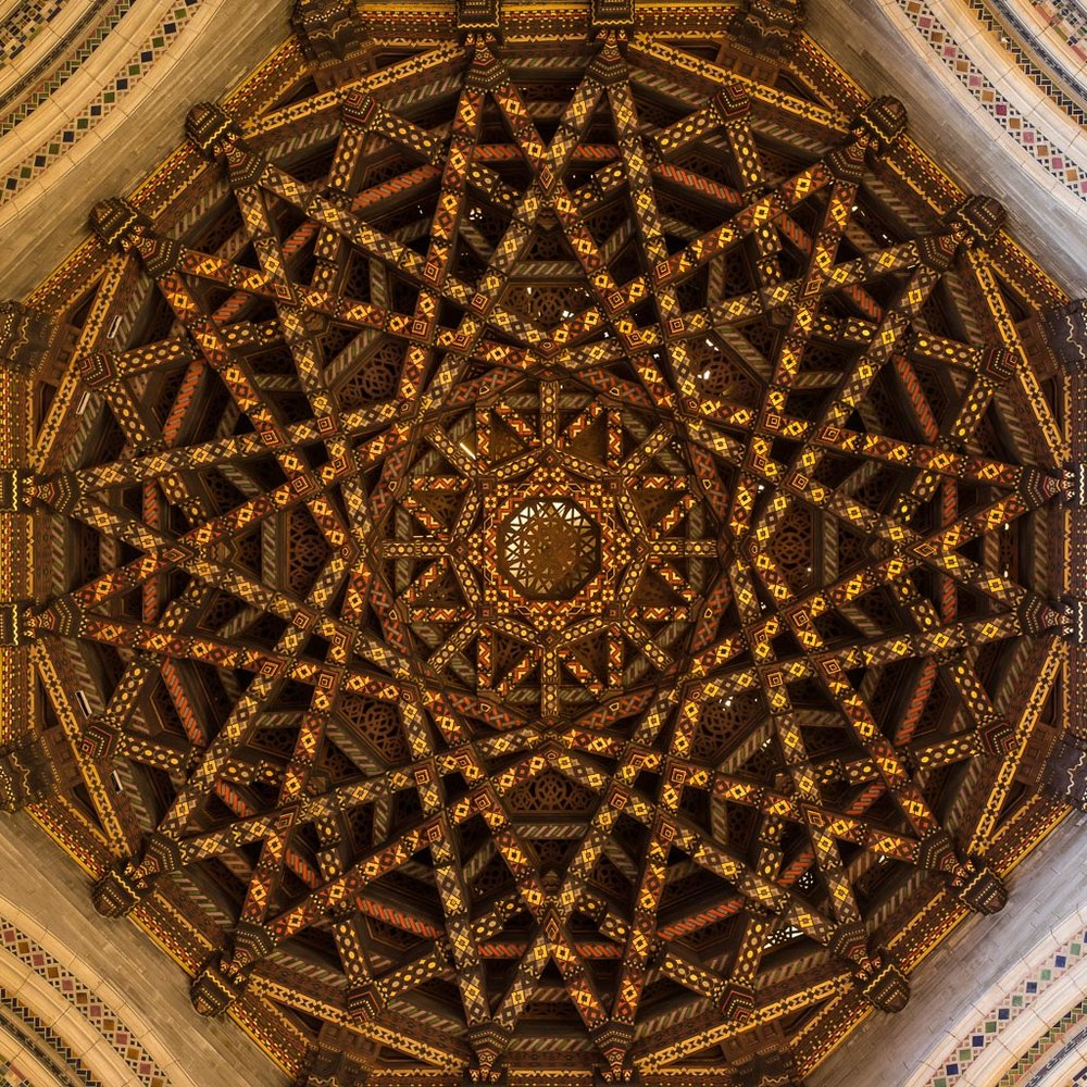 The ceiling of St. Bartholomew required a 20-second exposure to show this level of detail.