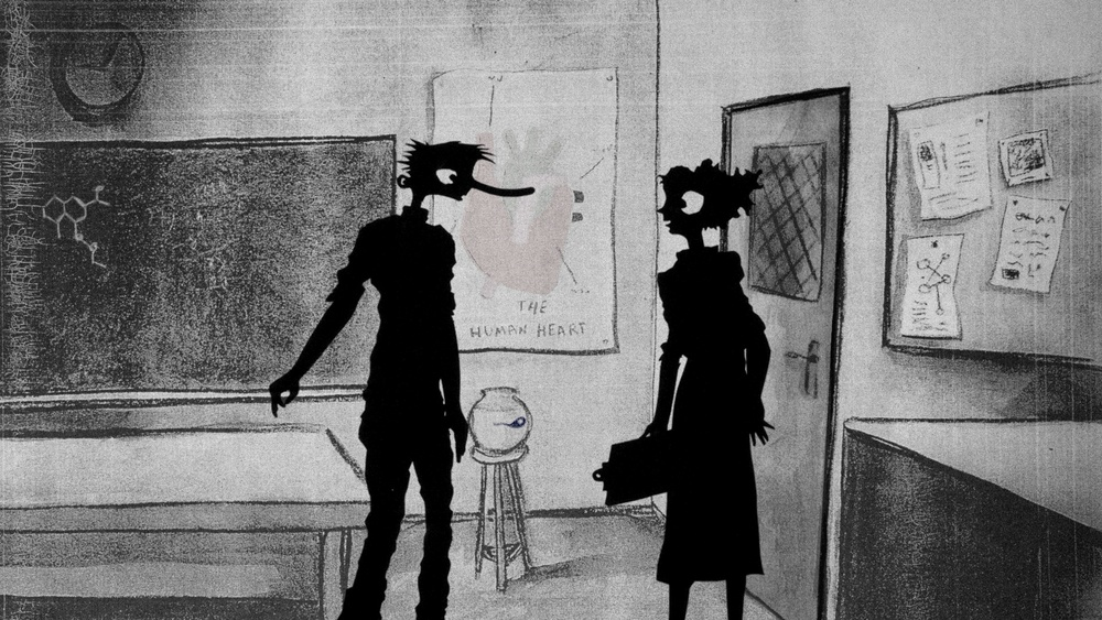 Still from 'Peter, Lily and the Nose' by Brian Irvine (composer), John McIlduff (Writer), Matthew Robins (Animator)