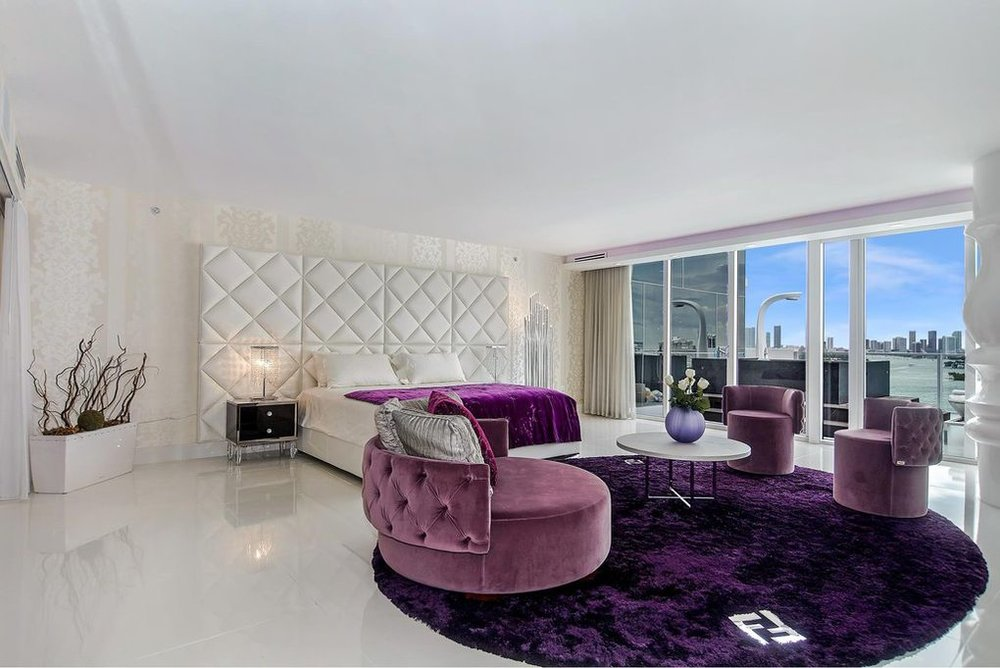 AT OVER 4,000SF INTERIOR AND 1,400SF OF TERRACE, - this spectacular residence with 3 Bedrooms + Office sparkles and shines. With a completely Open floor plan and natural light throughout, Direct Bay and Downtown Miami Skyline views are ever present from every corner. Custom Designed Kitchen features Miele, Subzero & Wolf, and Grohe appliances. The Master Suite is Palatial with custom millwork and a grand master bath.