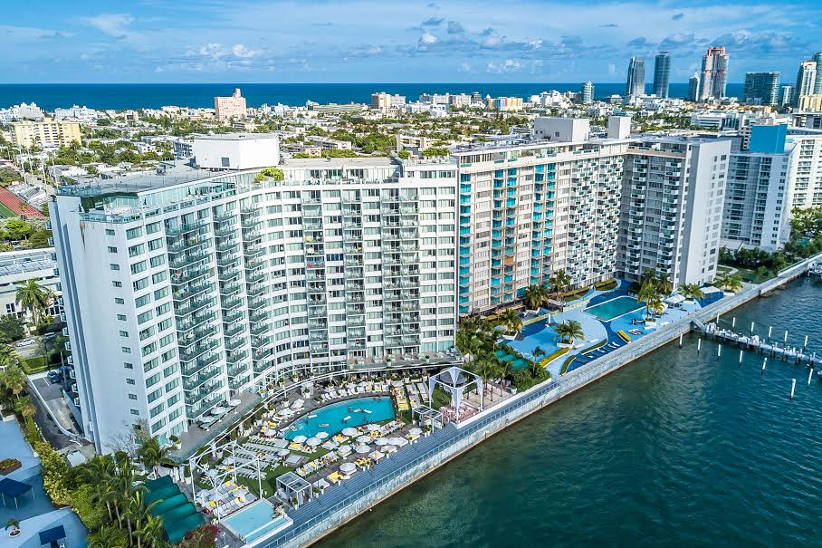 MONDRIAN SOUTH BEACH IS SITUATED ON THE BISCAYNE BAY IN SOUTH BEACH. -