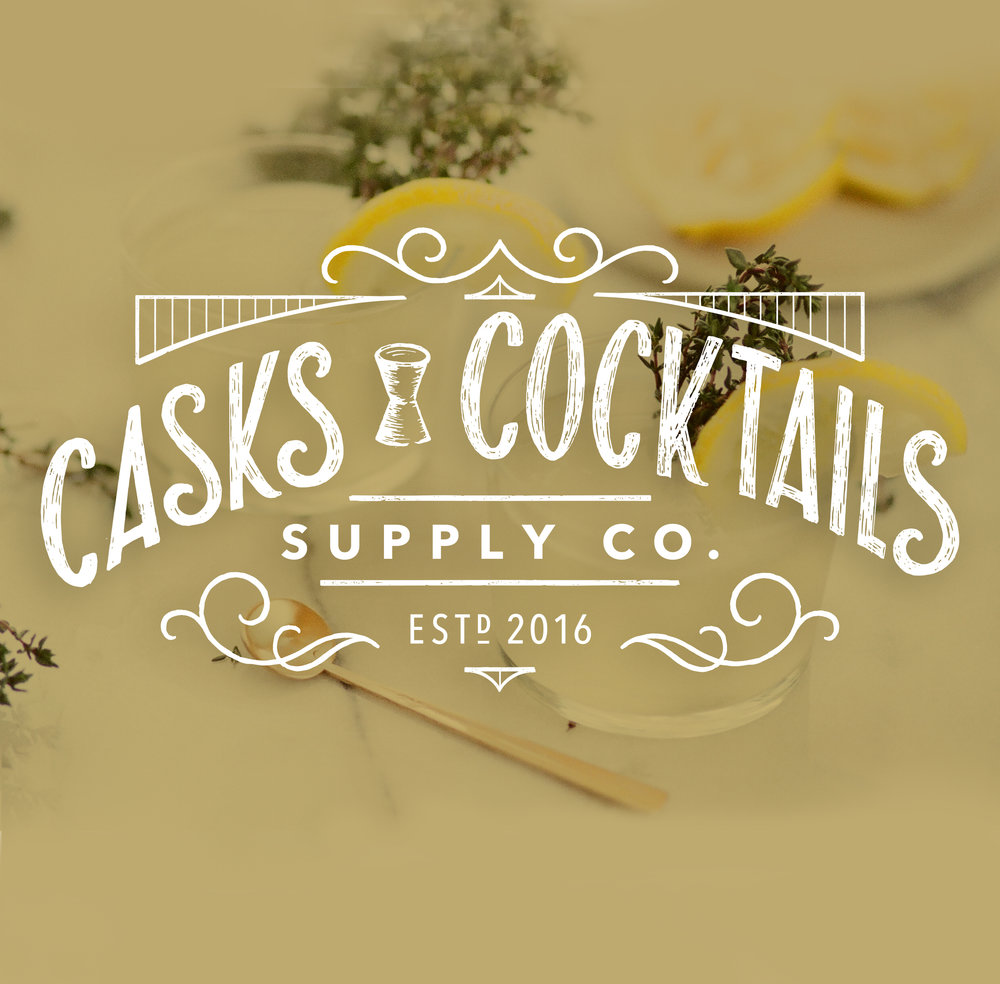 Casks + Cocktails Branding