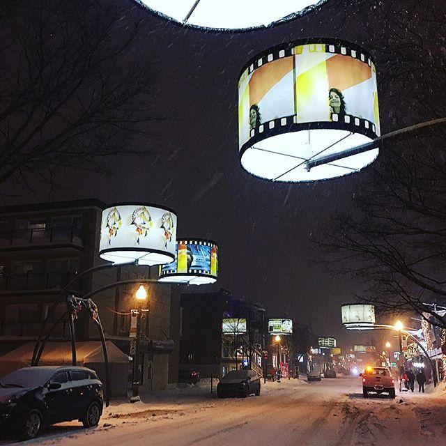 Avenue Cartier #ruecartier #tempetedeneige #centrevilledequebec #quartiermontcalm #neige