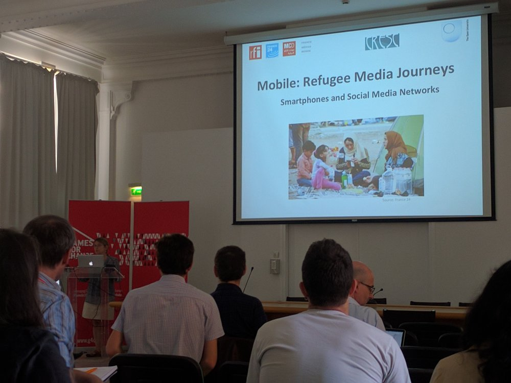 Marie Gillespie offers best practice in online resources for refugees