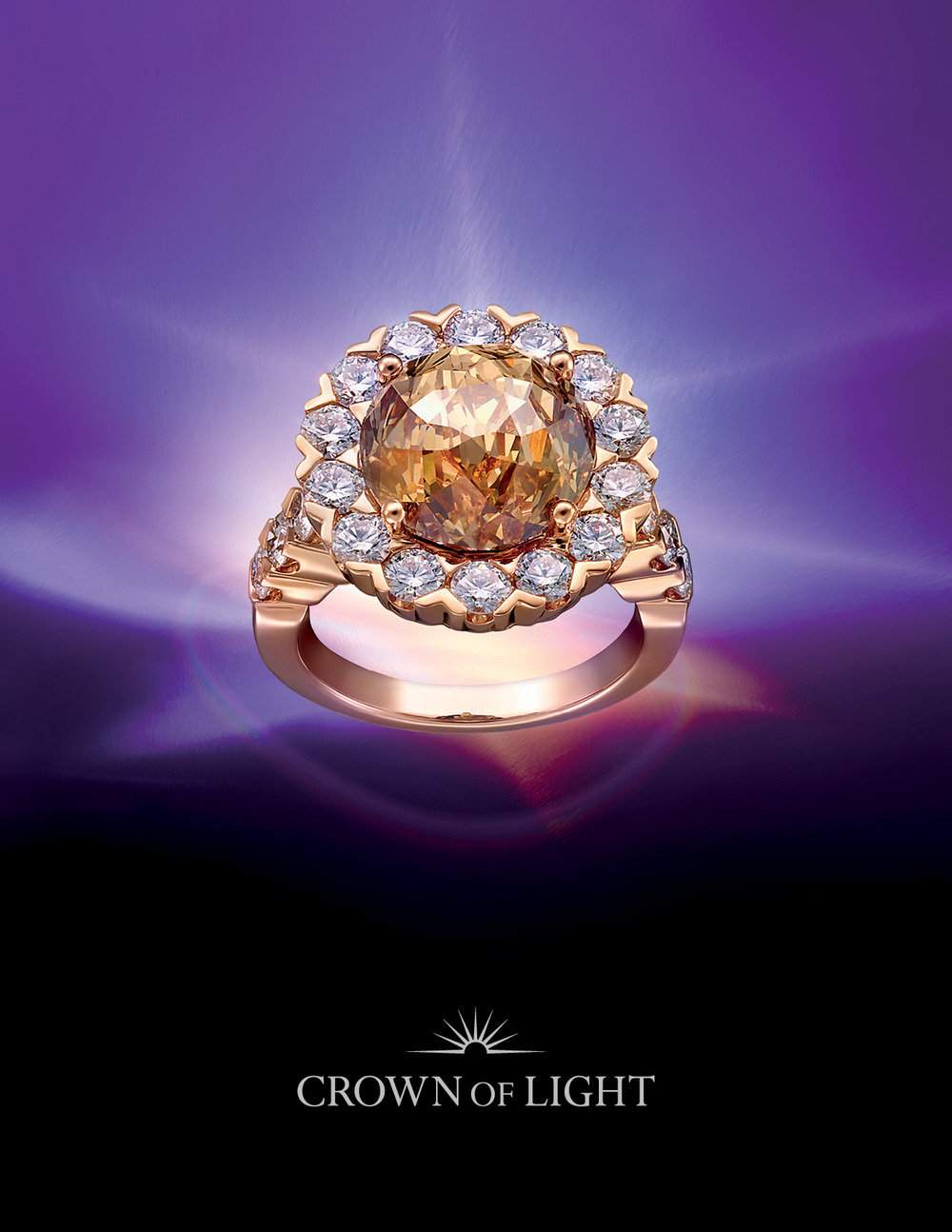 Attractive Luxury Fine Jewelry Brand Crown Of Light Logo Design, Packaging Design, And  Print Collateral Design