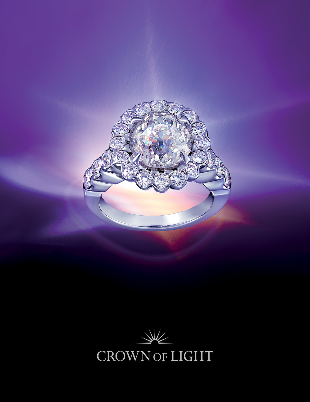 High Quality Luxury Fine Jewelry Brand Crown Of Light Logo Design, Packaging Design, And  Print Collateral Photo Gallery